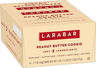 Purchase Larabar Gluten Free Bar, Peanut Butter Cookie, 1.7 oz Bars (16 Count), Whole Food Gluten Free Bars, Dairy Free Snacks at Amazon.com