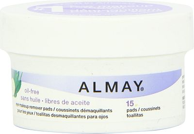 Purchase Almay Oil Free Eye Makeup Remover Pads, 15 Count in 1 box at Amazon.com
