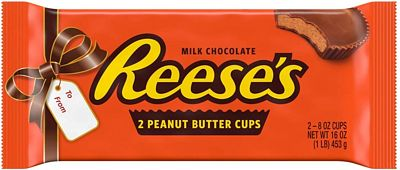 Purchase REESE'S Peanut Butter Cups, World's Largest Reese's Chocolate Cup for Unique Holiday Christmas Candy Gift, Two 8 Ounce Cups, 1lb bar at Amazon.com