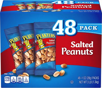Purchase Planters Salted Peanuts (1 oz Bags, Pack of 48) at Amazon.com
