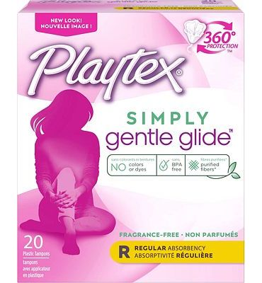 Purchase Playtex Gentle Glide Tampons with Triple Layer Protection, Regular, Unscented - 20 Count (Pack of 2) at Amazon.com