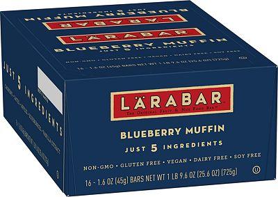 Purchase Larabar Gluten Free bar, Blueberry Muffin, 1.6 oz Bars (16 Count) at Amazon.com