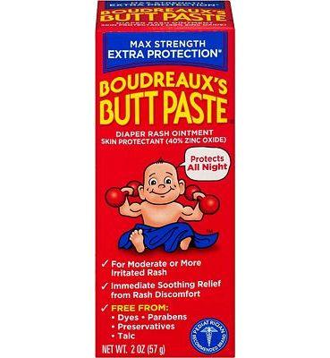 Purchase Boudreaux's Butt Paste Diaper Rash Ointment, Maximum Strength, 2 oz. Tube, Paraben & Preservative Free at Amazon.com