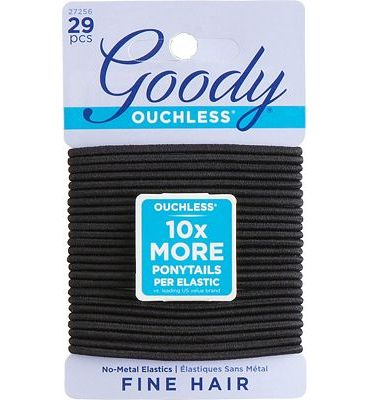 Purchase Goody Hair Women's Ouchless 2 mm Hair Elastics, Black, 29 Count at Amazon.com