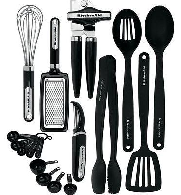 Purchase KitchenAid 17-Piece Tools and Gadget Set, Black at Amazon.com