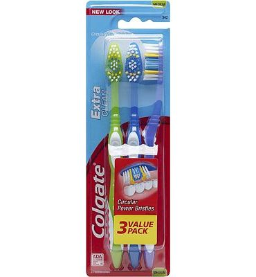 Purchase Colgate Extra Clean Full Head Toothbrush, Medium - 3 Count at Amazon.com