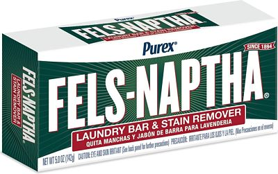 Purchase Fels Naptha Laundry Bar and Stain Remover, 5 Ounce at Amazon.com