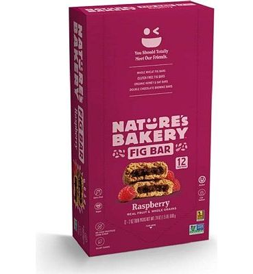 Purchase Nature's Bakery Whole Wheat Fig Bars, Raspberry, 1- 12 Count Box of 2 oz Twin Packs (12 Packs), Vegan Snacks, Non-GMO at Amazon.com