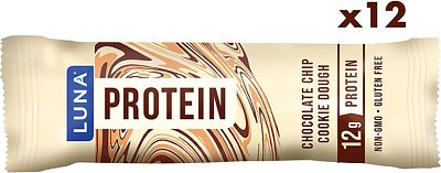 Purchase LUNA PROTEIN - Gluten Free Protein Bars - Chocolate Chip Cookie Dough - (1.59 Ounce Snack Bars, 12 Count) at Amazon.com