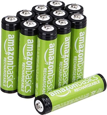 Purchase AmazonBasics AAA Rechargeable Batteries, Pre-charged - Pack of 12 at Amazon.com