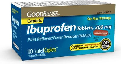 Purchase GoodSense Ibuprofen Tablets, 200 mg, Pain Reliever and Fever Reducer, 100 Count at Amazon.com