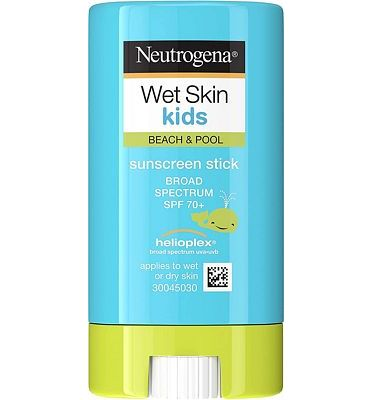 Purchase Neutrogena Wet Skin Kids Water Resistant Sunscreen Stick for Face and Body, Broad Spectrum SPF 70, 0.47 oz at Amazon.com
