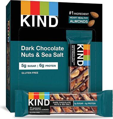 Purchase KIND Bars, Dark Chocolate Nuts & Sea Salt, Gluten Free, Low Sugar, 1.4oz, 12 Count at Amazon.com