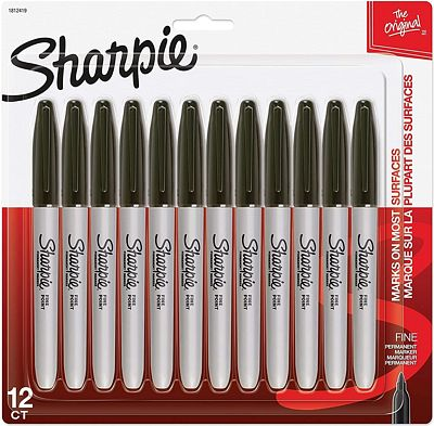 Purchase Sharpie Permanent Markers, Fine Point, Black, 12 Count at Amazon.com