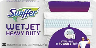 Purchase Swiffer Wetjet Heavy Duty Mop Pad Refills for Floor Mopping and Cleaning, All Purpose Multi Surface Floor Cleaning Product, 20 Count at Amazon.com
