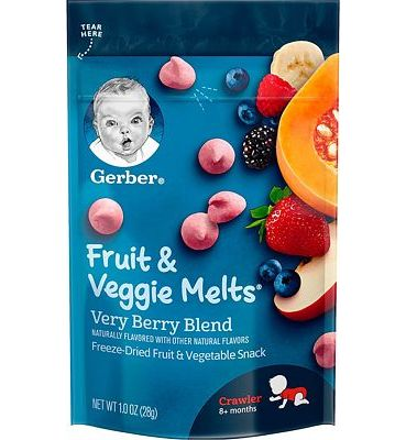 Purchase Gerber Fruit and Veggie Melts, Very Berry Blend, 1 Ounce (Pack of 7) at Amazon.com