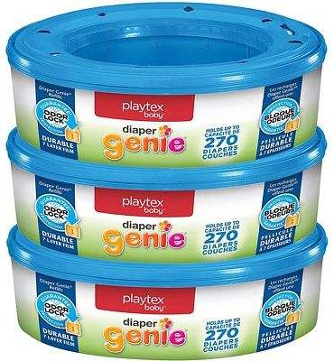 Purchase Playtex Diaper Genie Refill Bags, Ideal for Diaper Genie Diaper Pails, 3 Pack, 810 Count at Amazon.com