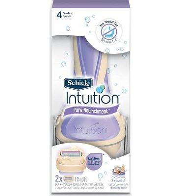 Purchase Schick Intuition Pure Nourishment Womens Razor with Coconut Milk and Almond Oil, 1 Handle with 2 Refills at Amazon.com