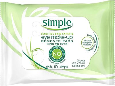 Purchase Simple Eye Makeup Remover Pads, 30 ct at Amazon.com