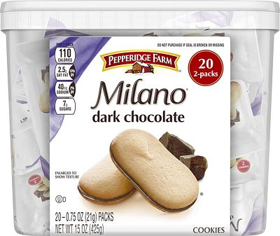 Purchase Pepperidge Farm, Milano, Cookies, Dark Chocolate, 15 oz., Multi-pack, Tub, 20-count at Amazon.com