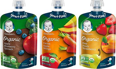 Purchase Gerber Organic 2nd Foods Baby Food, Fruit & Veggie Variety Pack, 3.5 Ounces Each, 18 Count at Amazon.com
