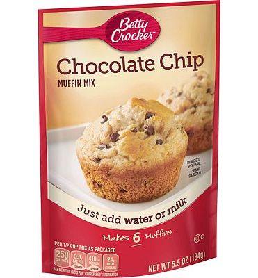 Purchase Betty Crocker Chocolate Chip Muffin Mix, 9 Pack, 6.5 oz at Amazon.com