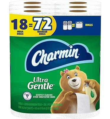 Purchase Charmin Ultra Gentle Toilet Paper, 18 Mega Rolls (Equal to 72 Regular Rolls) at Amazon.com