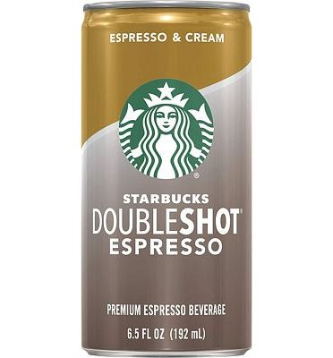 Purchase Starbucks Doubleshot, Espresso + Cream, 6.5 Fluid Ounce, Pack of 12 at Amazon.com