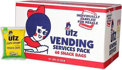 Purchase Utz Potato Chips, Salt & Vinegar 1 oz. Bags (60 Count), Crispy Potato Chips Made from Fresh Potatoes at Amazon.com