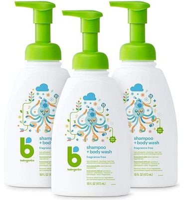 Purchase Babyganics Baby Shampoo and Body Wash, Fragrance Free, 3 Pack at Amazon.com
