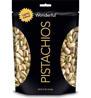 Purchase Wonderful Pistachios, Lightly Salted, 16 Resealable Pouch at Amazon.com