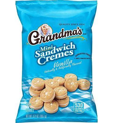 Purchase Grandma's Mini Cookies, Vanilla Creme, 3.71 Ounce (Pack of 24) at Amazon.com