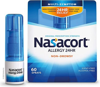 Purchase Nasacort Allergy 24HR Nasal Spray for Adults, Non-Drowsy & Alcohol-Free, 60 Sprays, 0.37 fl. oz. at Amazon.com