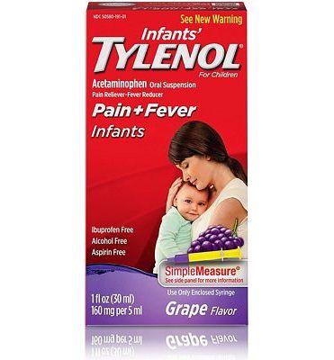 Purchase Infants' Tylenol Acetaminophen Liquid Medicine, Grape, 1 fl. oz at Amazon.com