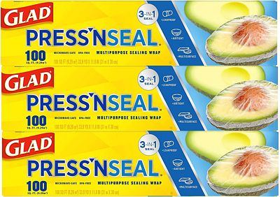 Purchase Glad Press'n Seal Plastic Food Wrap - 100 Square Foot Roll - 3 Pack at Amazon.com