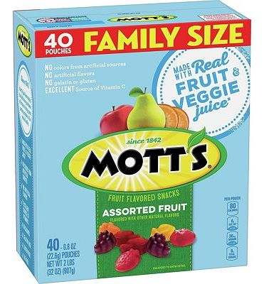 Purchase Mott's Medleys Fruit Snacks, Assorted Fruit Gluten Free Snacks, Family Size, 40 Pouches, 0.8 oz Each at Amazon.com
