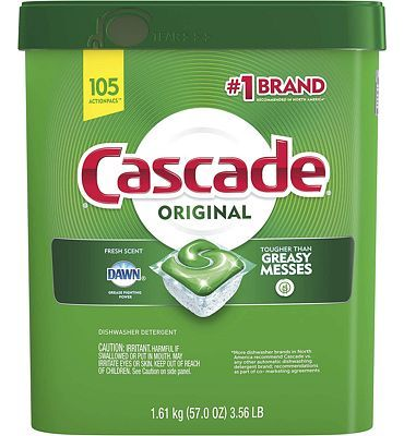 Purchase Cascade ActionPacs Dishwasher Detergent, Fresh Scent, 105 Count at Amazon.com