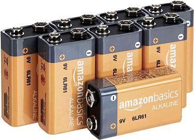 Purchase AmazonBasics 9 Volt Everyday Alkaline Battery - Pack of 8 at Amazon.com