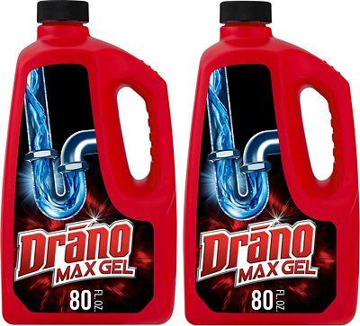 Purchase Drano Max Gel Clog Remover, 80 Fl. Oz (2 Count) at Amazon.com