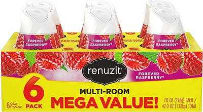 Purchase Renuzit Adjustable Air Freshener Gel, Forever Raspberry, 7 Ounces (6 Count) at Amazon.com