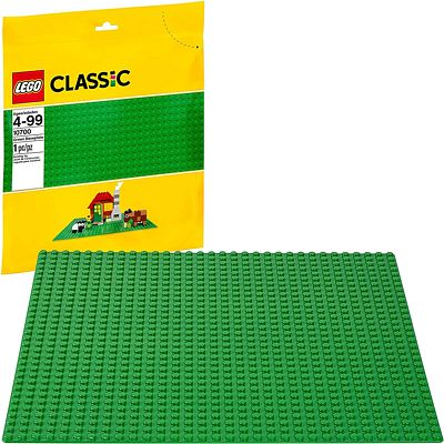 Purchase LEGO Classic Green Baseplate Supplement for Building, Playing, and Displaying LEGO Creations, 10 x 10 inches at Amazon.com