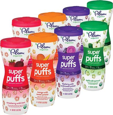 Purchase Plum Organics Super Puffs Variety Pack, 1.5 Ounce (Pack of 8) at Amazon.com