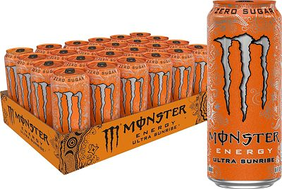 Purchase Monster Energy Ultra Sunrise, Sugar Free Energy Drink, 16 Ounce (Pack of 24) at Amazon.com