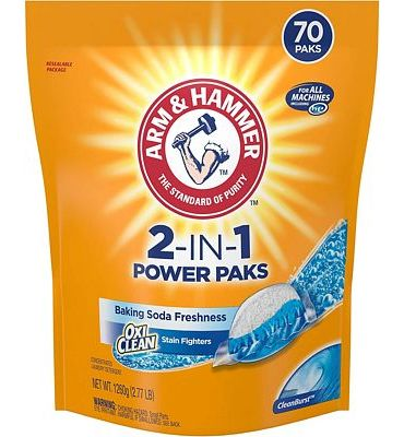 Purchase ARM & HAMMER2-IN-1 Laundry Detergent Power Paks, 70 Count at Amazon.com