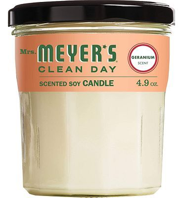 Purchase Mrs. Meyer's Clean Day Scented Soy Aromatherapy Candle, 35 Hour Burn Time, Made with Soy Wax, Geranium, 4.9 oz at Amazon.com