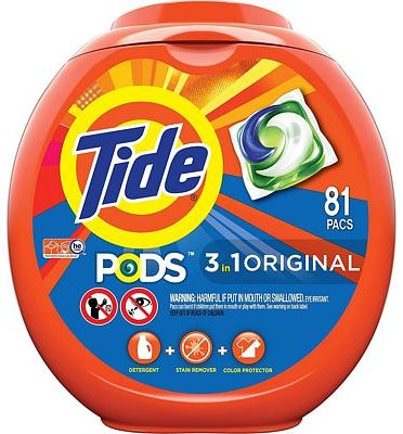 Purchase Tide PODS 3 in 1 HE Turbo Laundry Detergent Pacs, Original Scent, 81 Count Tub at Amazon.com