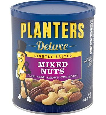 Purchase Planters Mixed Nuts, Lightly Salted Deluxe Mixed Nuts, 15.25 Ounce at Amazon.com