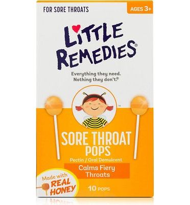 Purchase Little Remedies Sore Throat Pops, Made With Real Honey, Ages 3+, 10 Pops at Amazon.com