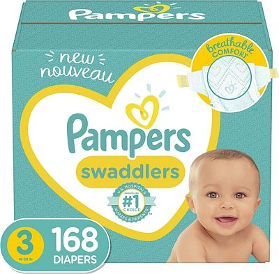 Purchase Diapers Size 3, 168 Count - Pampers Swaddlers Disposable Baby Diapers, ONE MONTH SUPPLY at Amazon.com