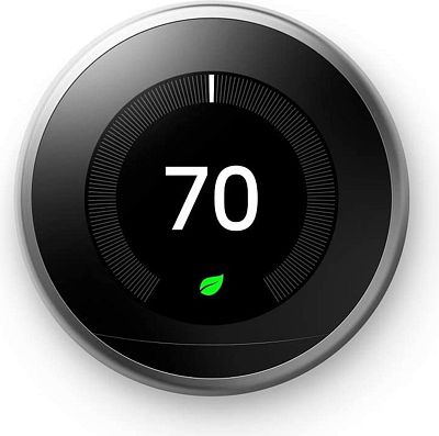 Purchase Google, T3007ES, Nest Learning Thermostat, 3rd Gen, Smart Thermostat, Stainless Steel, Works With Alexa at Amazon.com